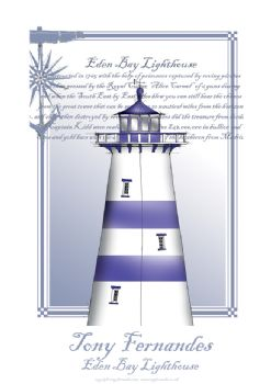 The Eden Bay Lighthouse - signed print